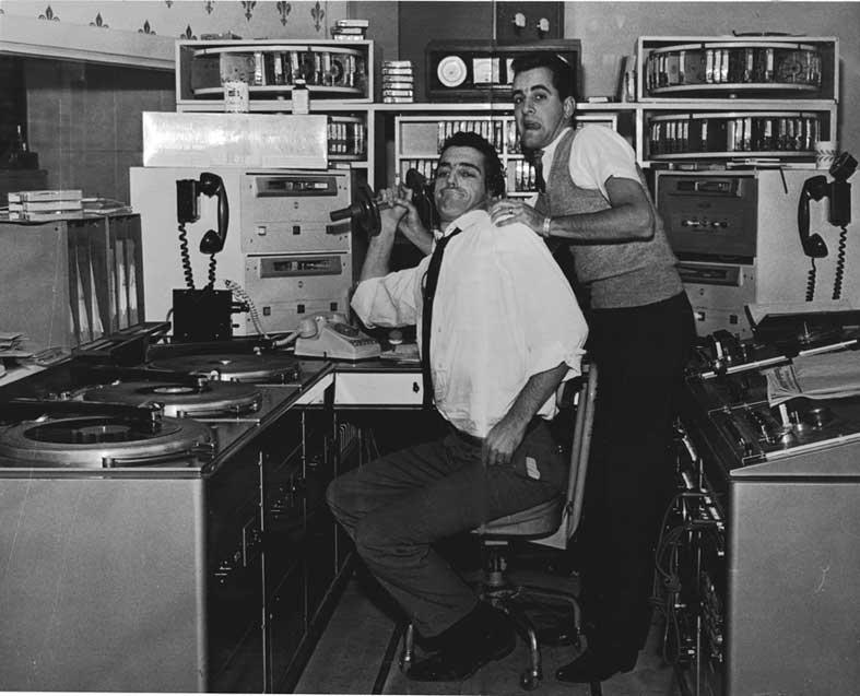 Studio de CJMS 1964