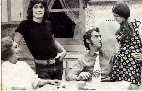 Yvan Ducharme dans le téléroman les berger avec Steve Fiset Claudine chatel et Rita Bibeau en 1971