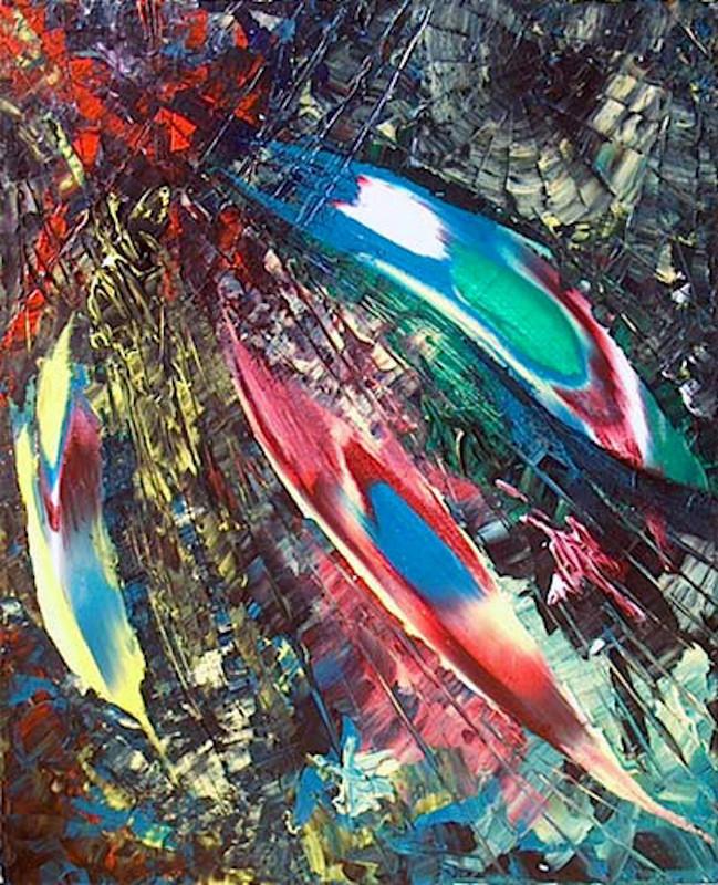 Yvan Ducharme peintre abstrait 101- Trilogie #1 16x20