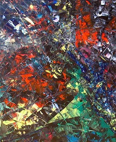 Yvan Ducharme peintre abstrait 102- Trilogie #2 16x20