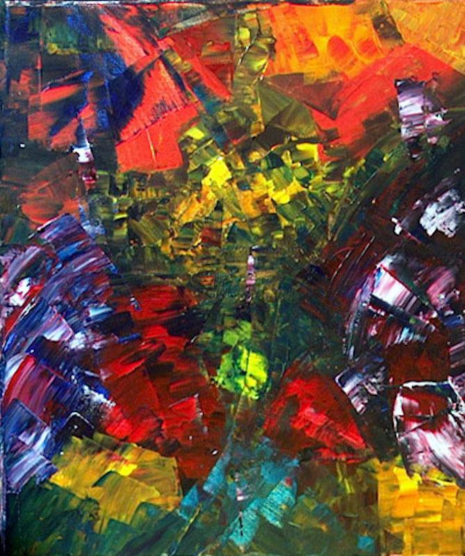 Yvan Ducharme peintre abstrait 103- Trilogie #3 16x20