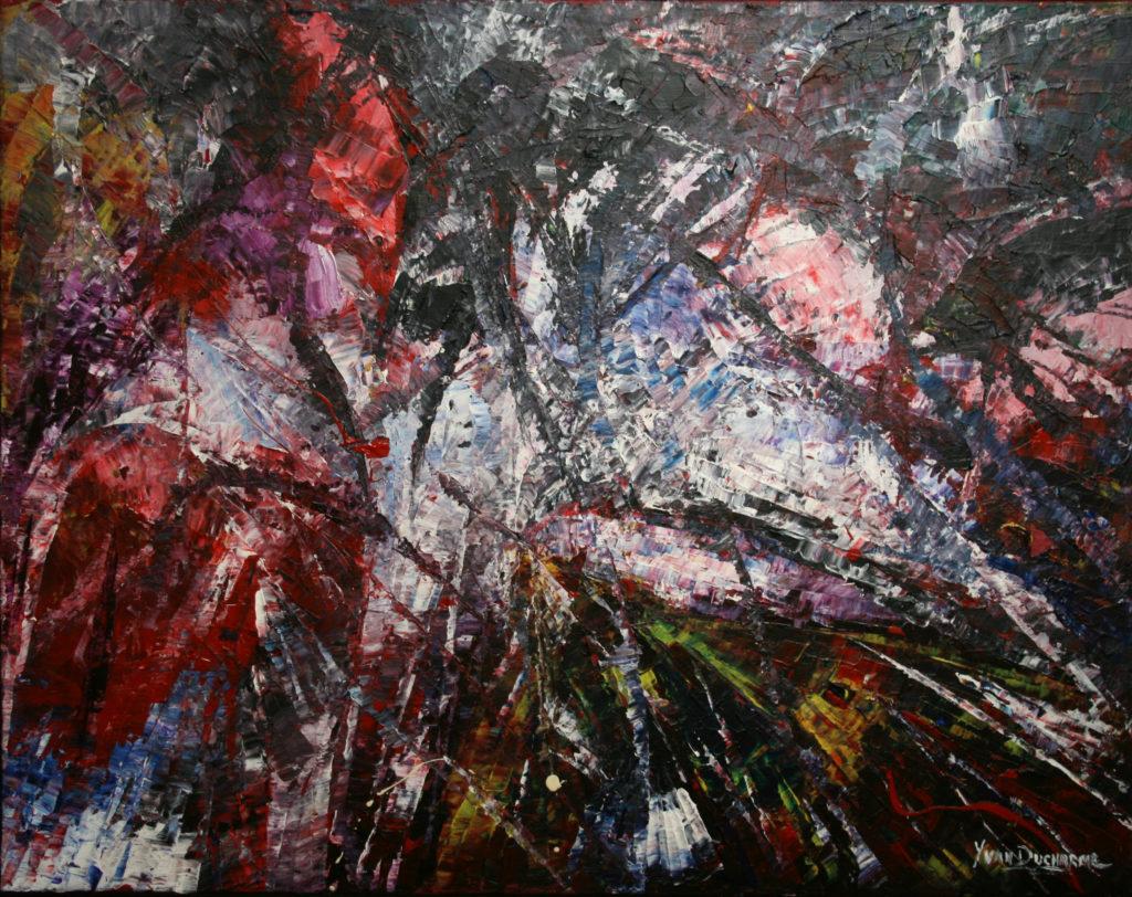 Yvan Ducharme peintre abstrait 107- Les Visiteurs