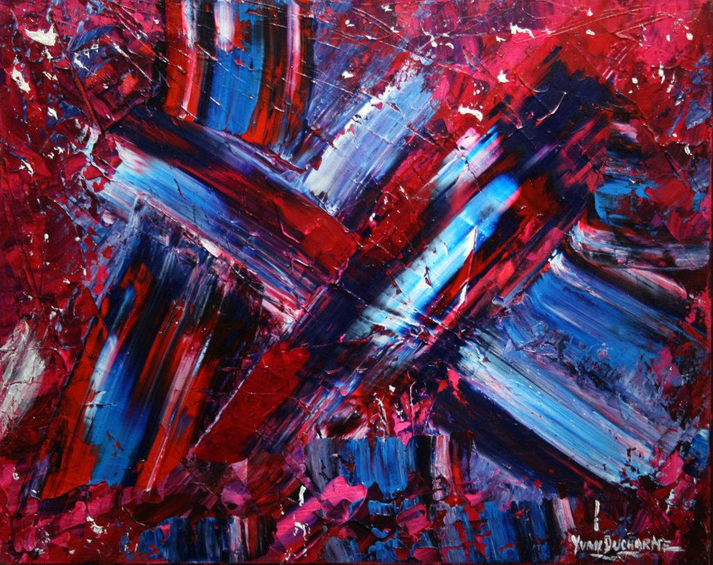 Yvan Ducharme peintre abstrait 115- Croisement 20x16