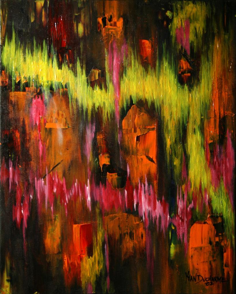 Yvan Ducharme peintre abstrait 117- Soins intensifs 16x20