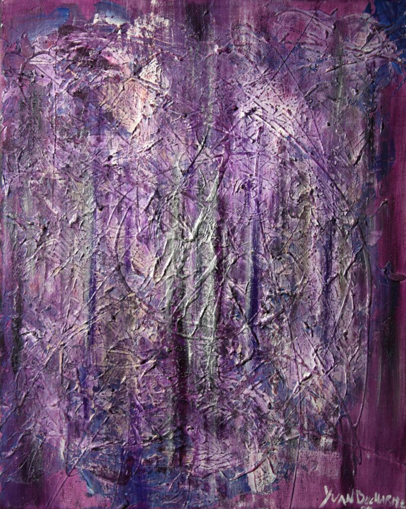 Yvan Ducharme peintre abstrait 118- Les mouves du mauve 20x16