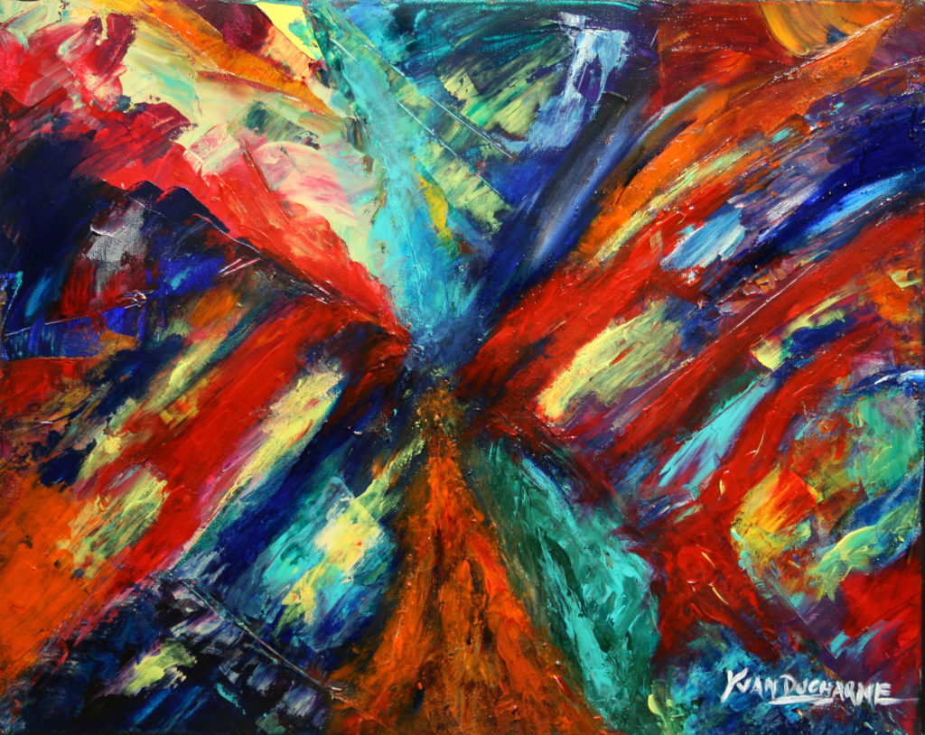 Yvan Ducharme peintre abstrait 124- Communion 20x16
