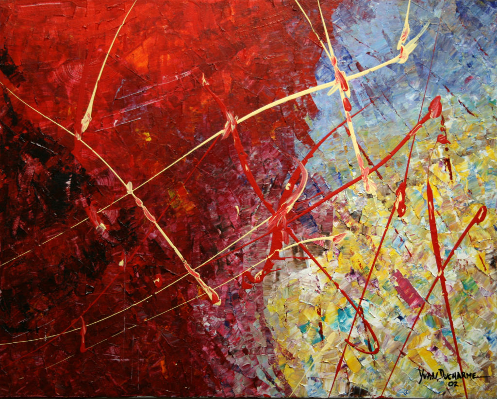 Yvan Ducharme peintre abstrait 127- Printemps 20x16