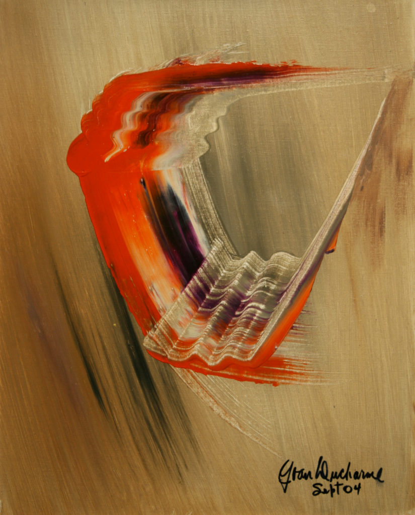 Yvan Ducharme peintre abstrait 130- 5e dimension 20x16