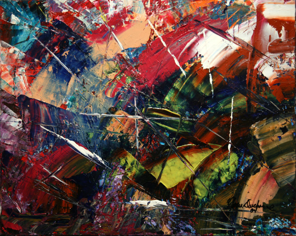 Collection 1 - Yvan Ducharme peintre abstrait 133- Fragments 20x16