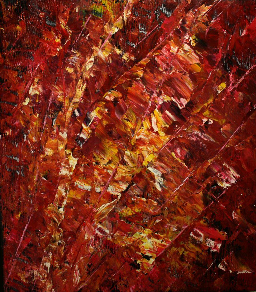 Yvan Ducharme peintre abstrait 163- Pulsions d\