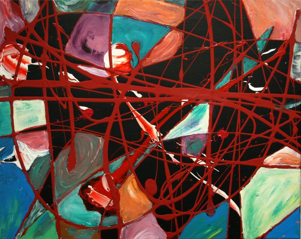 Yvan Ducharme peintre abstrait 166- Catalogne 20x16