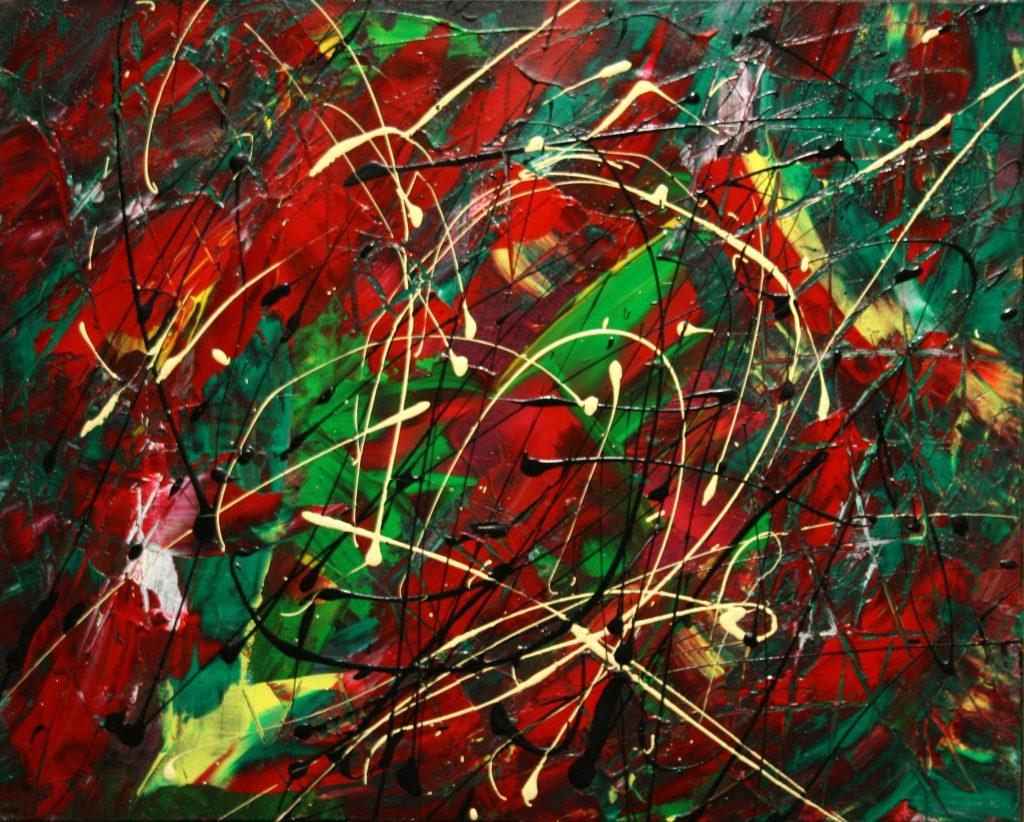 Yvan Ducharme peintre abstrait 167- Tournaillage 20x16