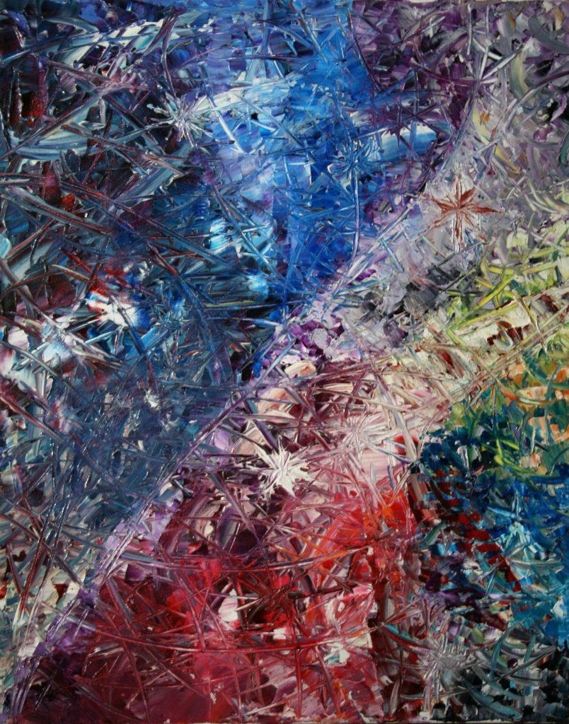 Yvan Ducharme peintre abstrait 171-Tornade d\
