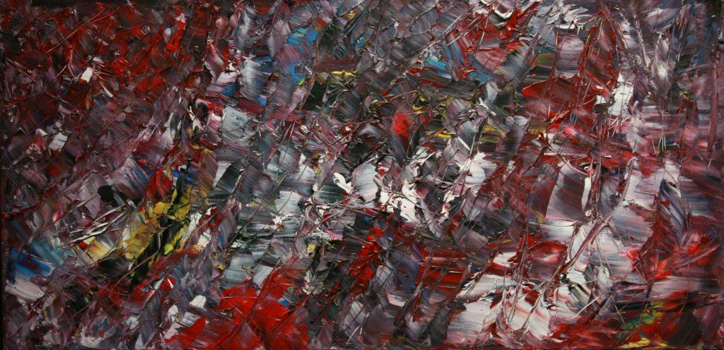 Yvan Ducharme peintre abstrait 174-Tourbillon 12x24