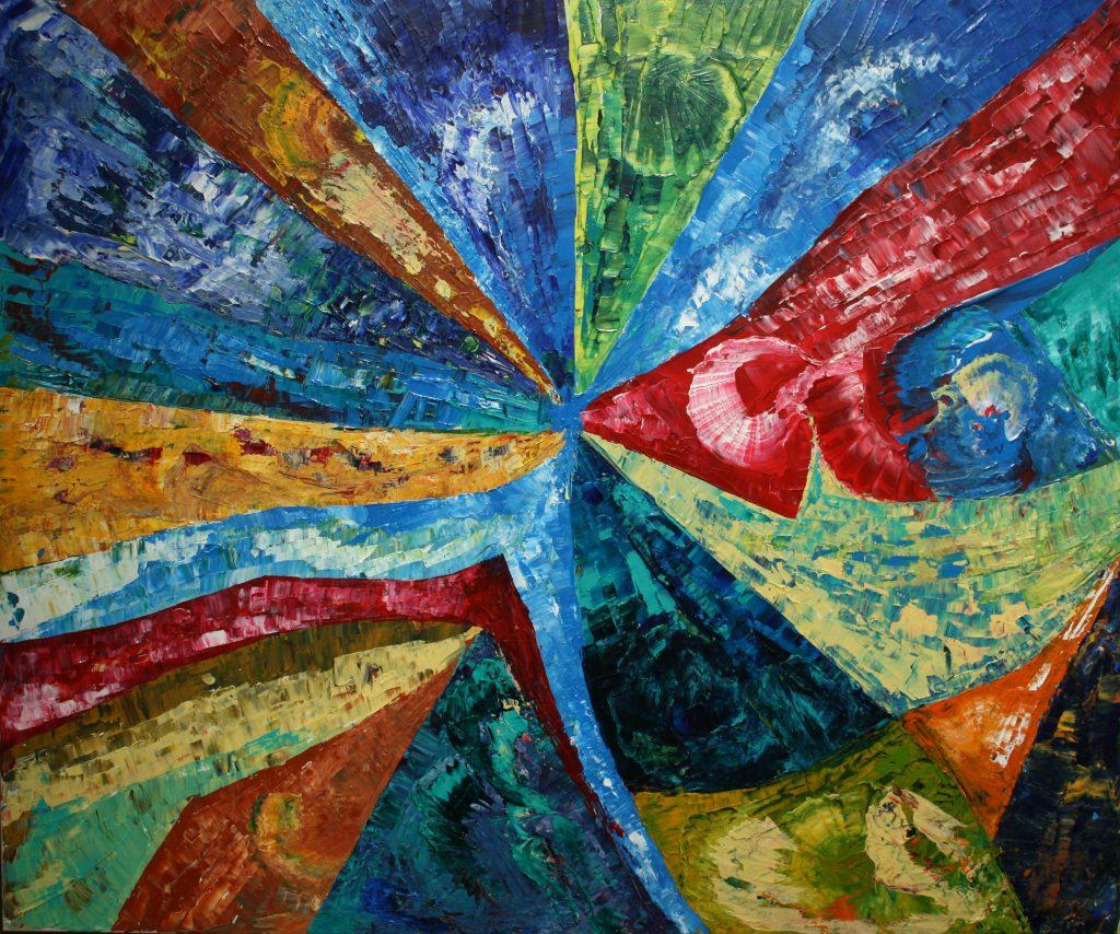 Yvan Ducharme peintre abstrait 180- Adjonction 36x30