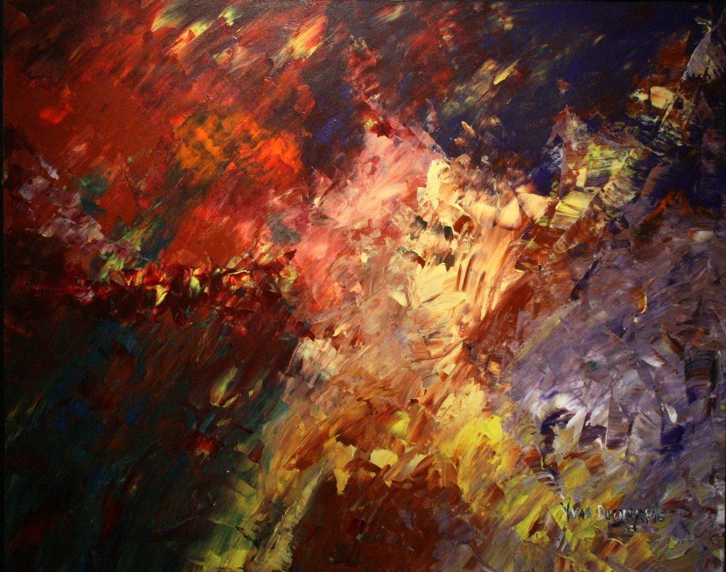 Yvan Ducharme peintre abstrait 181-Le vagabond de l\