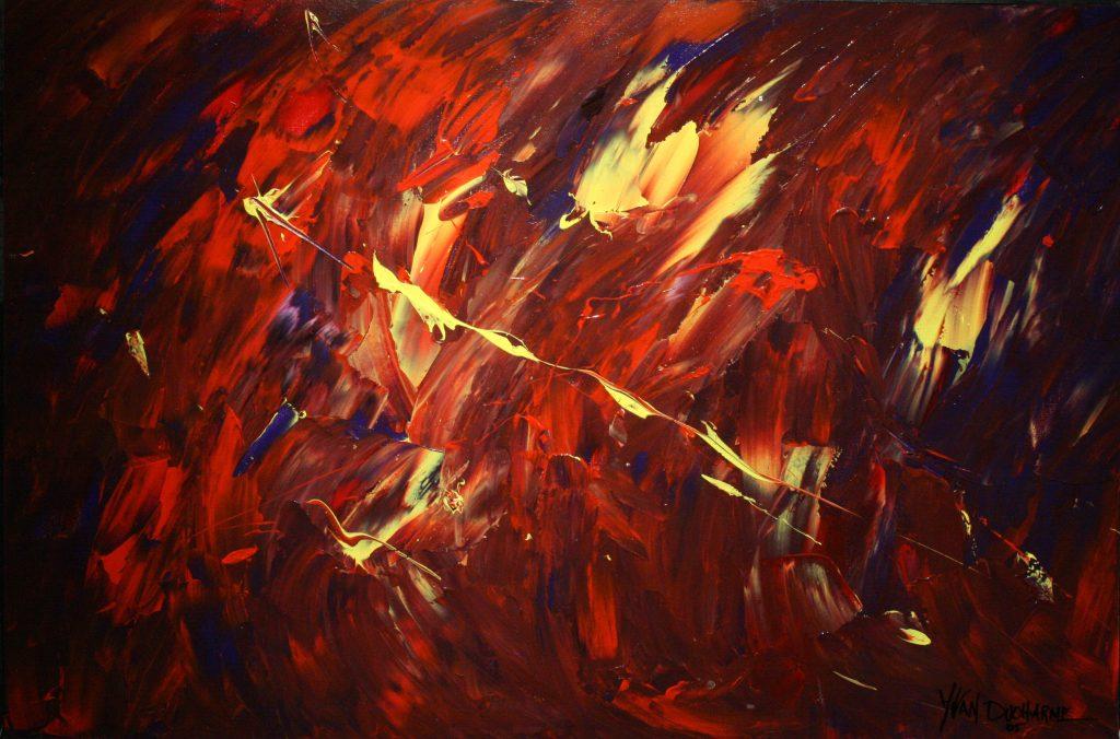 Yvan Ducharme peintre abstrait 182-Crépuscule 30x20