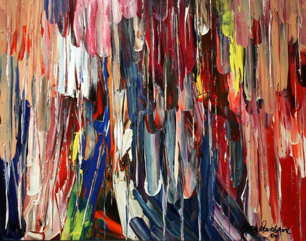 Yvan Ducharme peintre abstrait 188- Larmes de crocodile et d\