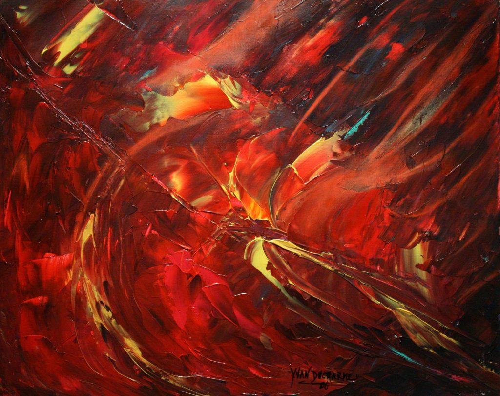 Yvan Ducharme peintre abstrait 190- Les oiseaux du paradis 20x16