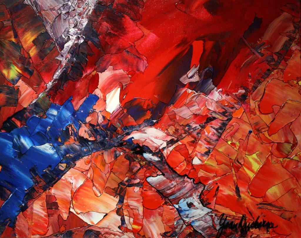 Yvan Ducharme peintre abstrait 192- Fluides d\