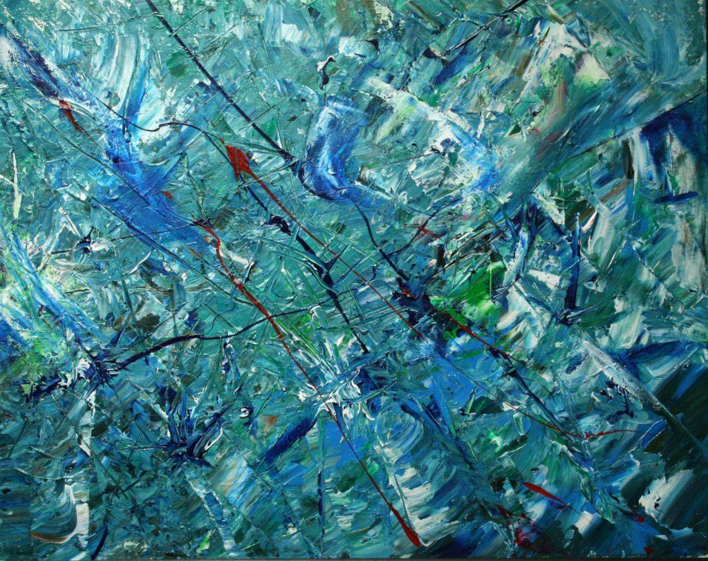 Yvan Ducharme peintre abstrait 193- lueur d\