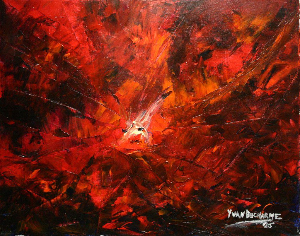 Yvan Ducharme peintre abstrait 194- L\
