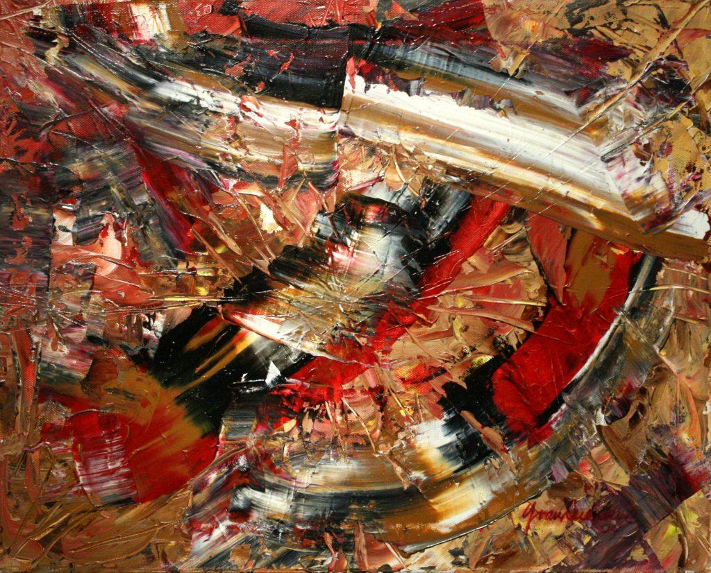 Yvan Ducharme peintre abstrait 195- L