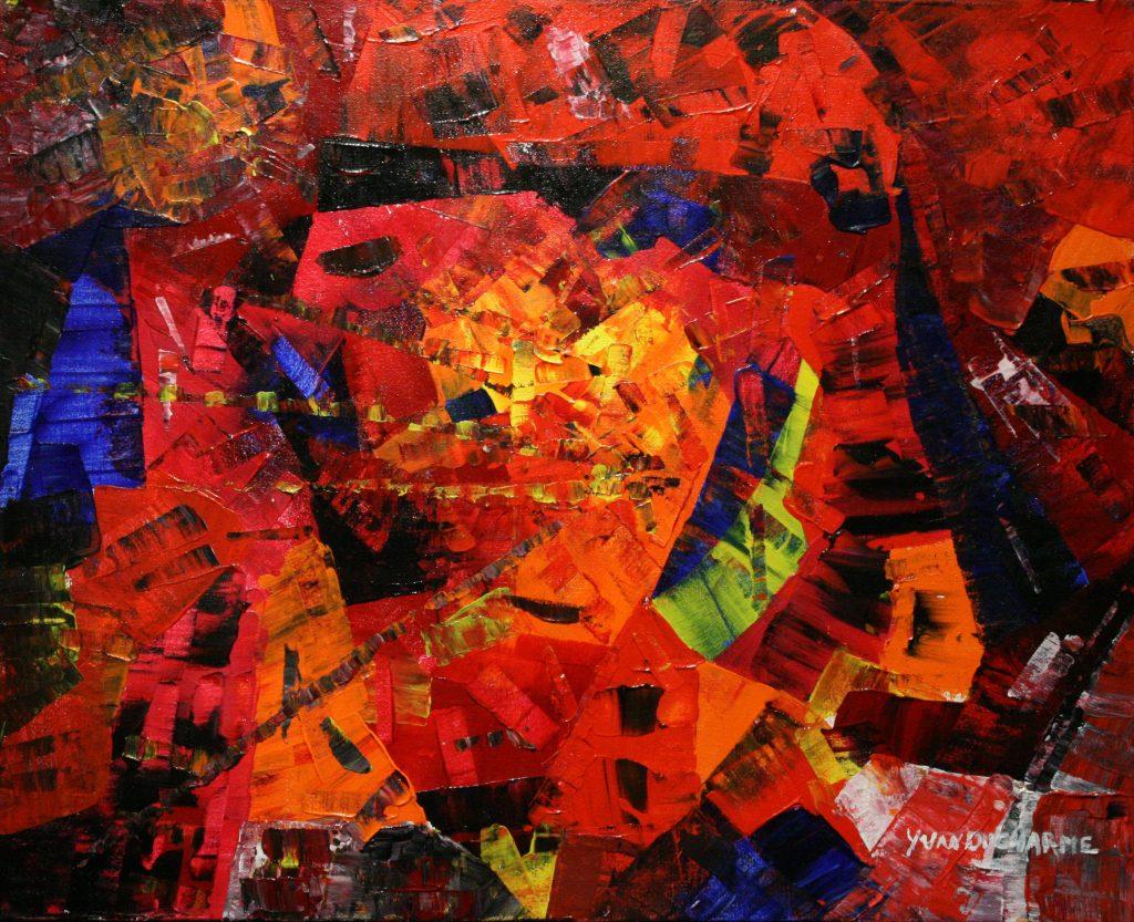 Yvan Ducharme peintre abstrait 200- L