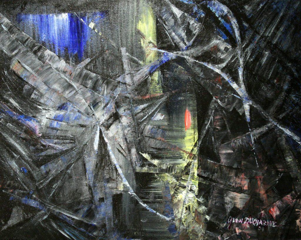 Yvan Ducharme peintre abstrait 202- Lueur 20x16