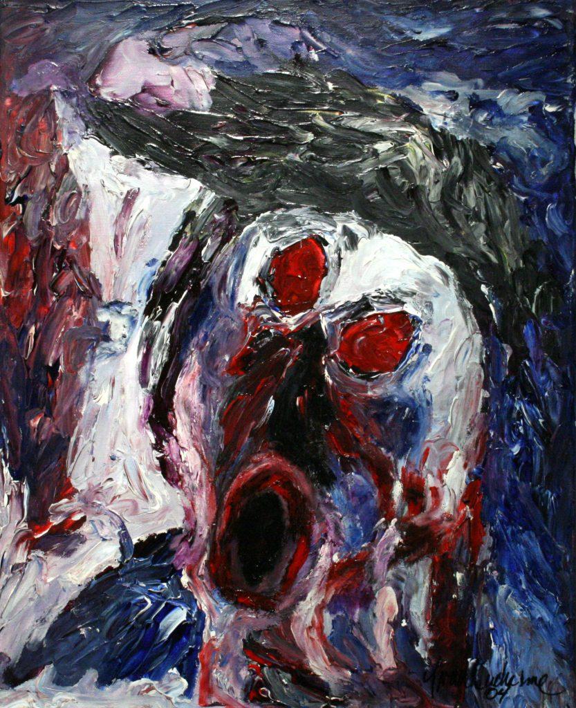 Yvan Ducharme peintre abstrait 204- L