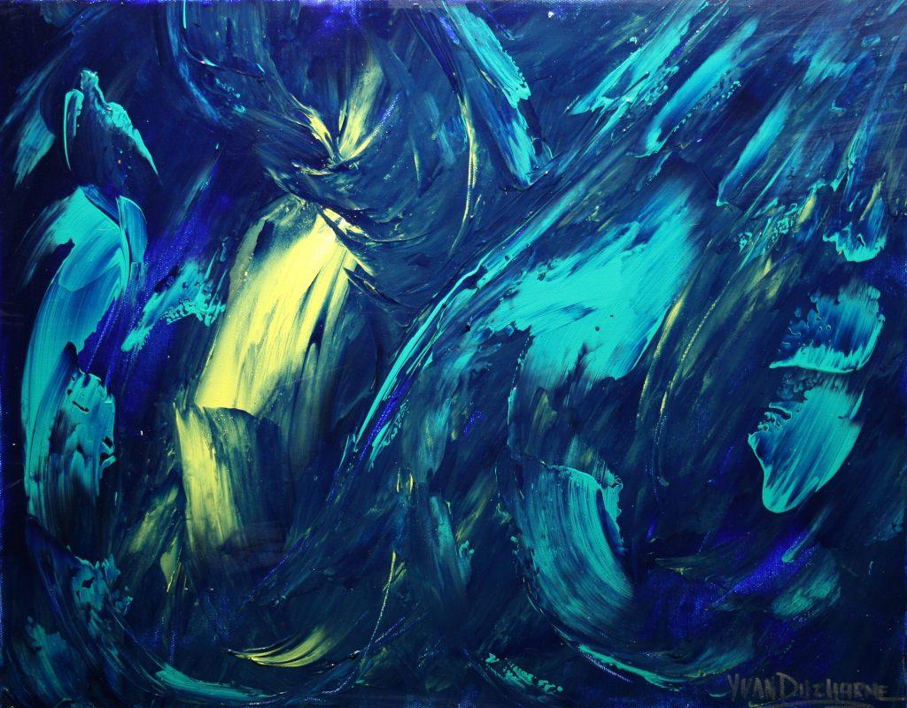 Yvan Ducharme peintre abstrait 207- Gentils Fantômes 20x16