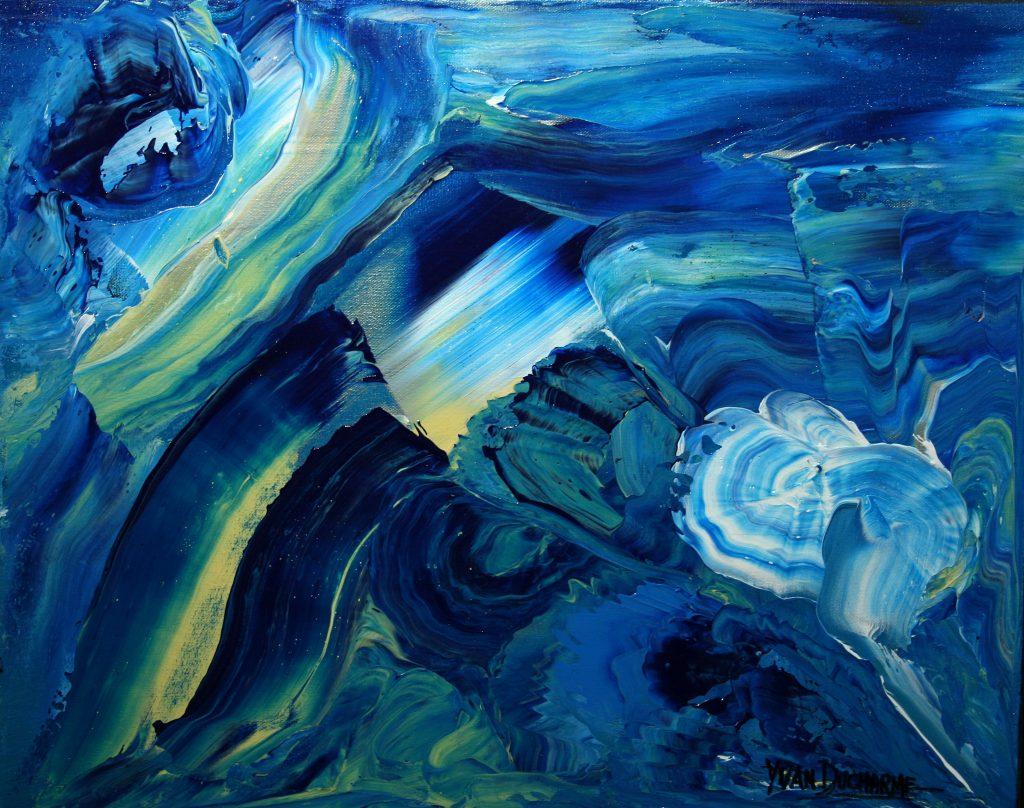 Yvan Ducharme peintre abstrait 211- Polaire 20x16