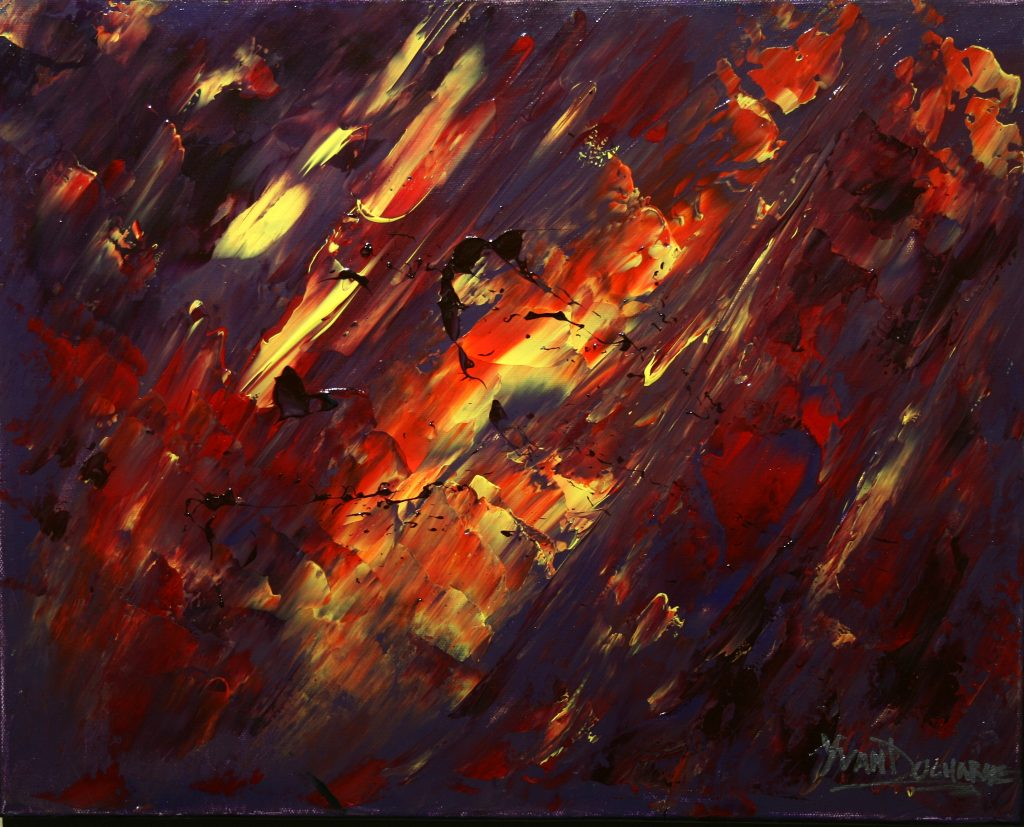 Yvan Ducharme peintre abstrait 213- Avant l