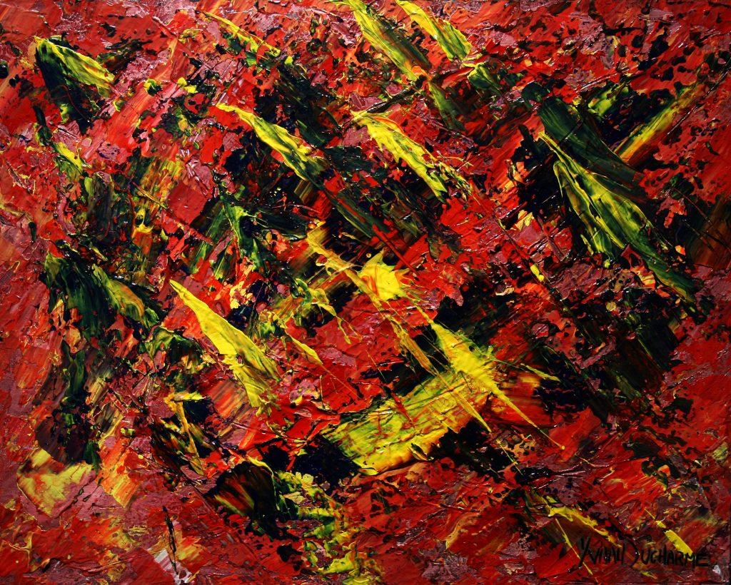 Yvan Ducharme peintre abstrait 215- Chinatown 20x16
