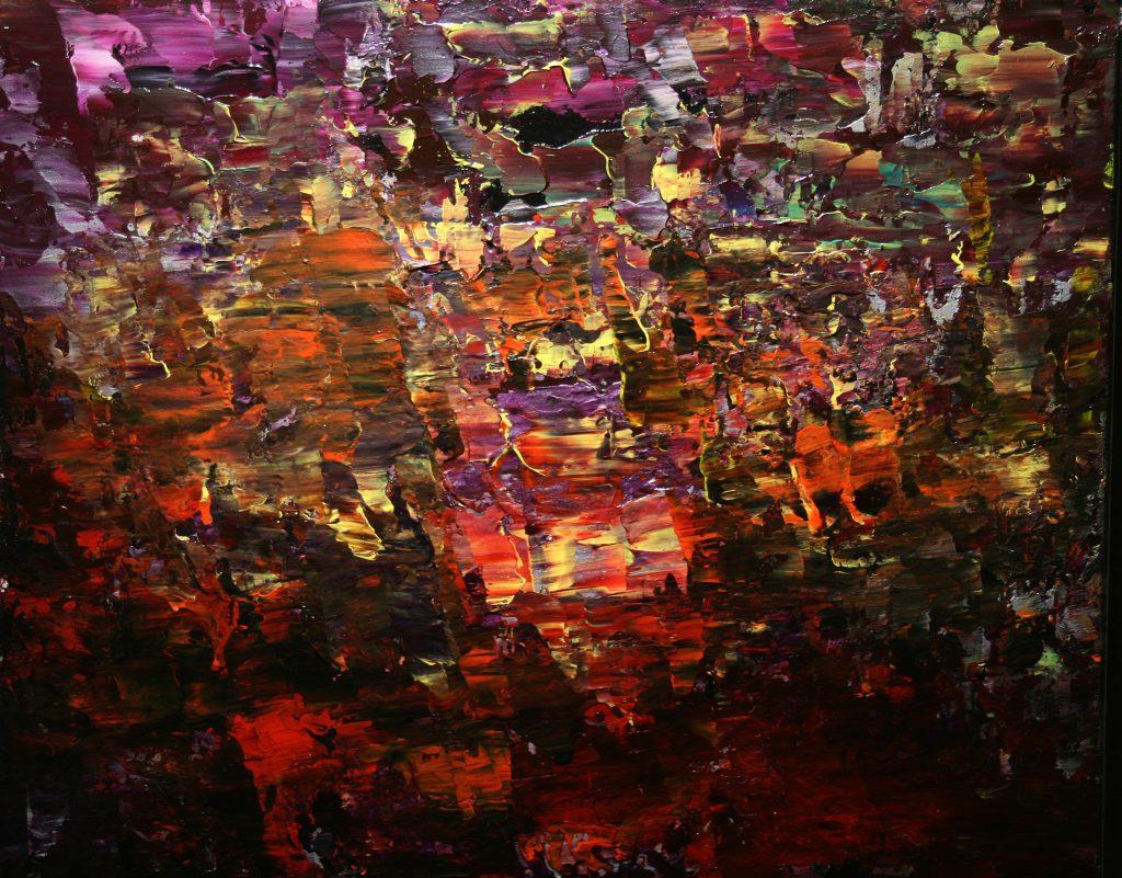 Yvan Ducharme peintre abstrait 217- Nuits chaudes 20x16