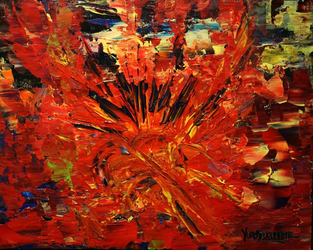 Yvan Ducharme peintre abstrait 224- Doutes et passions 20x16