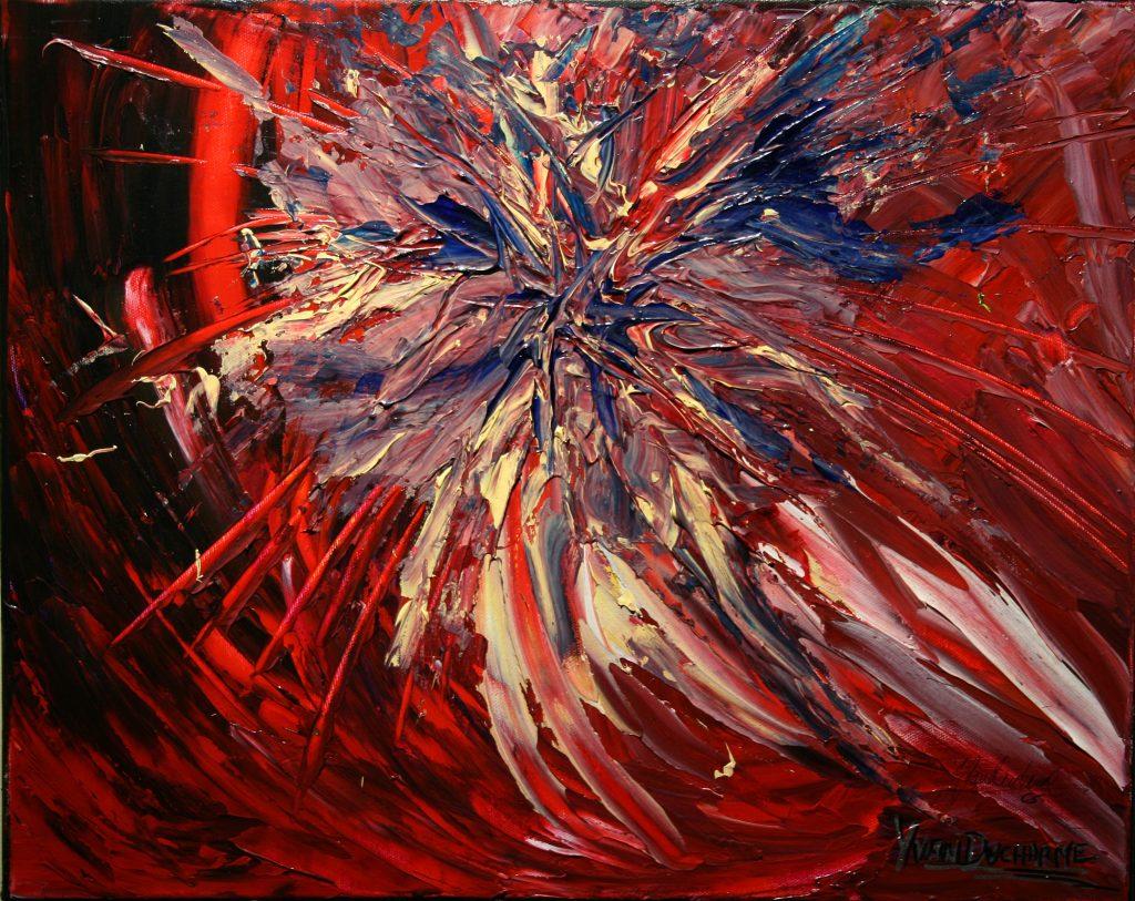 Yvan Ducharme peintre abstrait 225- Bang 20x16