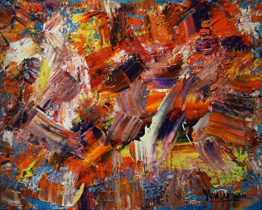 Yvan Ducharme peintre abstrait 226- Bazar Bizarre 20x16