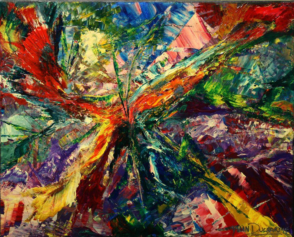 Yvan Ducharme peintre abstrait 227- Les fusions 20x16