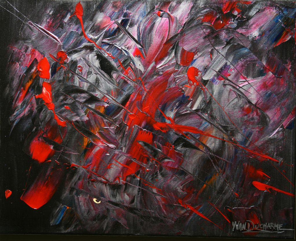 Yvan Ducharme peintre abstrait 230- Rebel 20x16