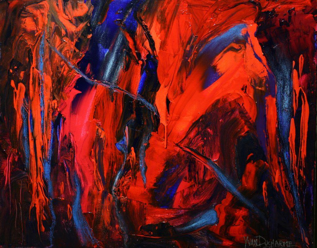 Yvan Ducharme peintre abstrait 234- Le temps s