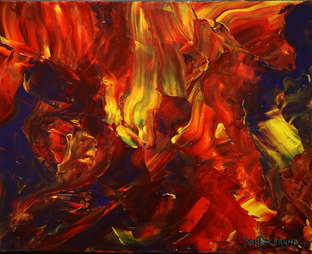 Yvan Ducharme peintre abstrait 236- L