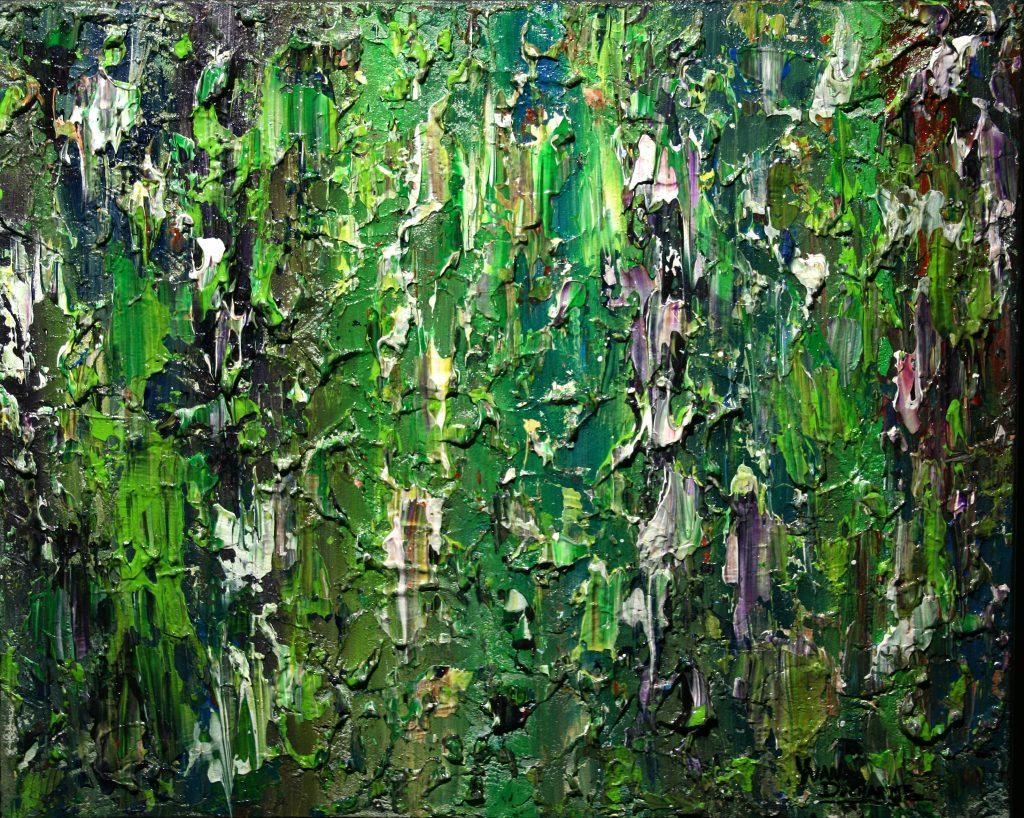 Yvan Ducharme peintre abstrait 240- Les murs de ronces et d