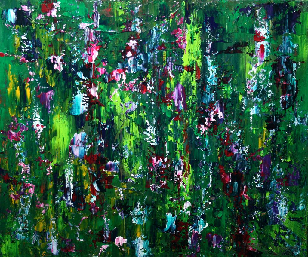 Yvan Ducharme peintre abstrait 246- Les pensées d