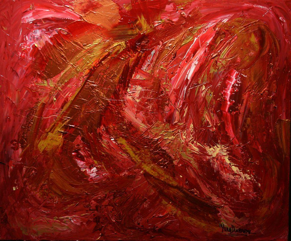 Yvan Ducharme peintre abstrait 247- D