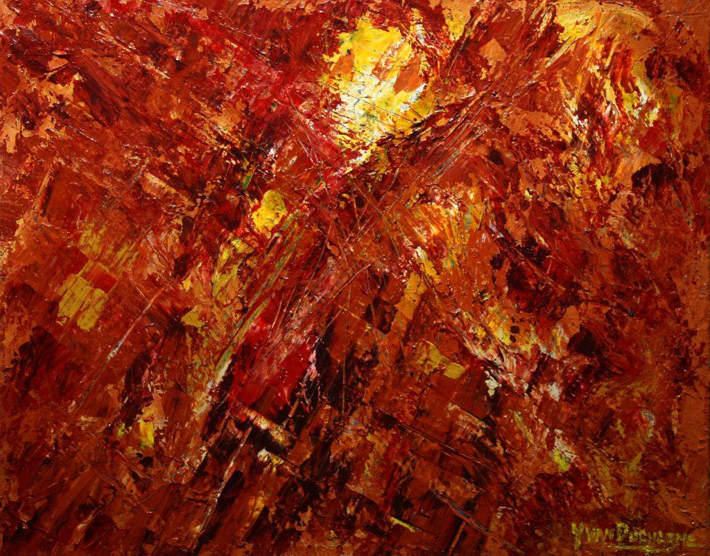 Yvan Ducharme peintre abstrait 253- Timide soleil d