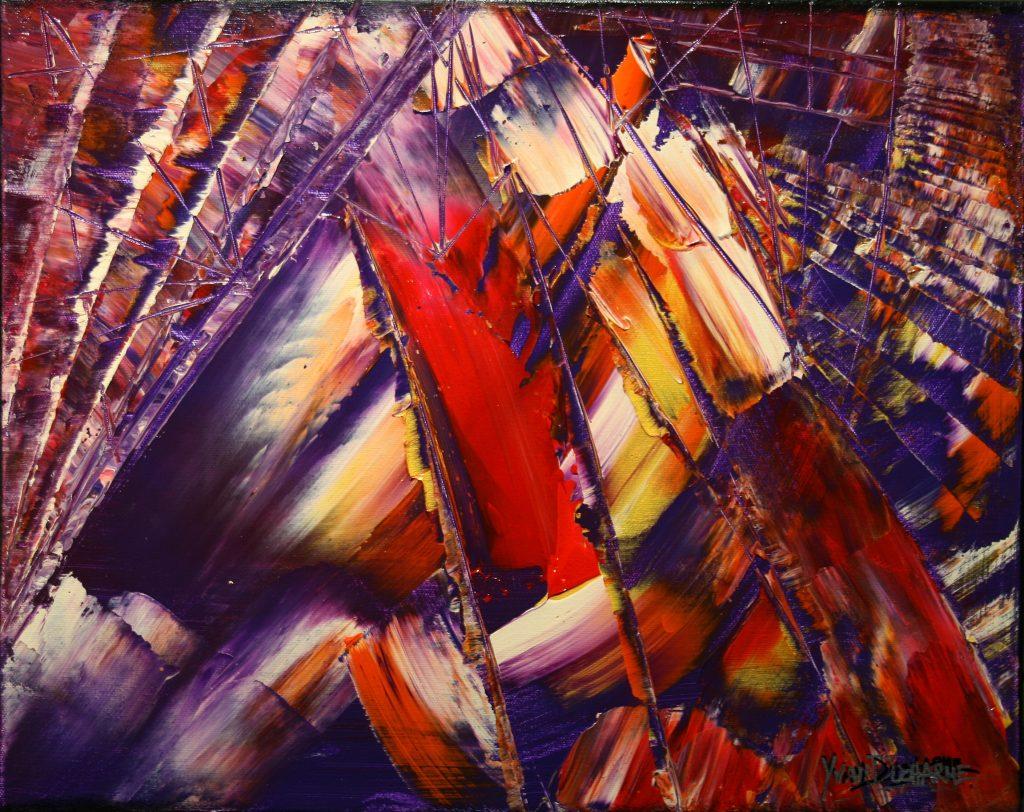 Yvan Ducharme peintre abstrait 254- Wigwam 20x16