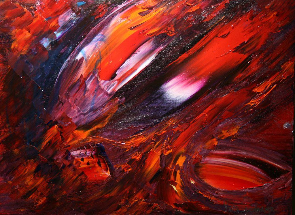 Yvan Ducharme peintre abstrait 261- Naufrage 24x18
