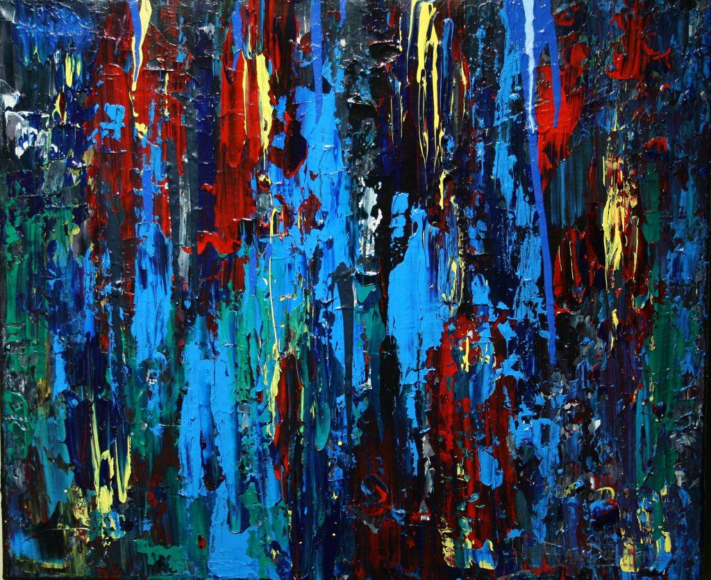 Yvan Ducharme peintre abstrait 262- Le mur des souvenirs 24x20