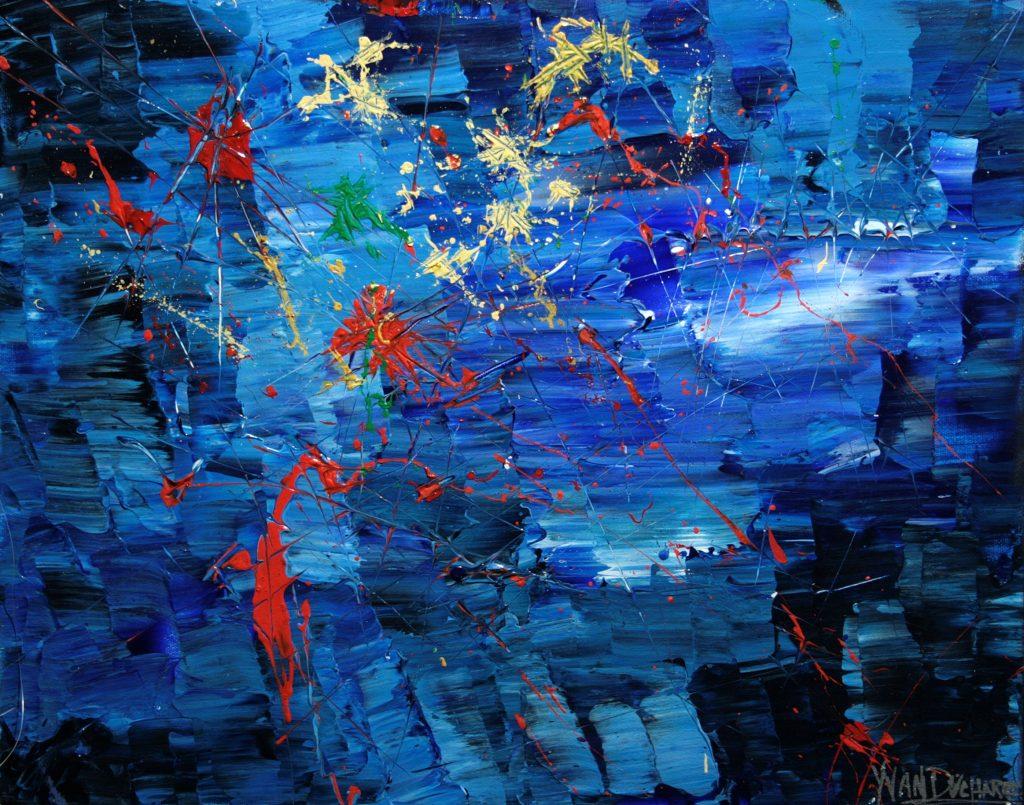 Yvan Ducharme peintre abstrait 269- Montréal le 24 juin 20x16